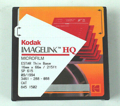 Kodak MICROFILM IMAGELIK HQ ESTAR Thin Base 16MM X 66m 21ft SP 615 New Old Stock