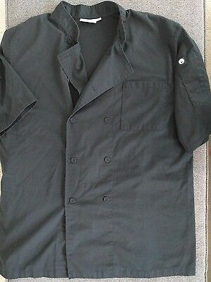 Chef Works Black Chef's Coat w/ Breathable Mesh Back! size L