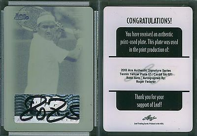 2013 Ace Authentic Signature Series Printing Plate Yellow ROGER FEDERER 1/1