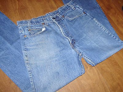 VINTAGE LEVIS 20517-0217 ORANGE TAB BOOT CUT JEANS 31 x 31 really nice fading