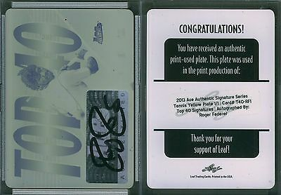 2013 Ace Signature Series Top 40 Autographs Printing Plate Yellow FEDERER 1/1