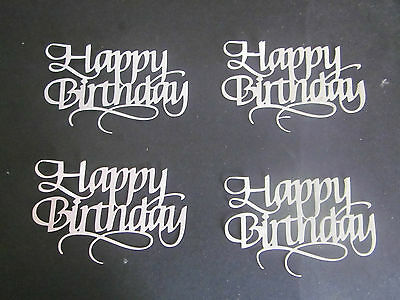 Die Cuts Happy Birthday 4 Large & Cream Colours  Cardstock Large