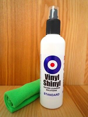 Vinyl Shinyl Record Cleaner - 200ml Standard Formula with free Microfibre Cloth
