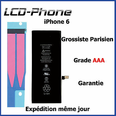 Batterie iPhone 6 / 6S Interne Neuve 0 Cycle avec Autocollant Sticker Original