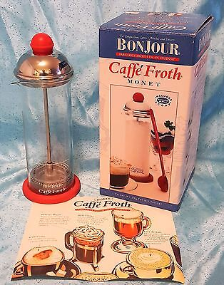 Bonjour Caffé Froth Monet Milk Frother with Coaster