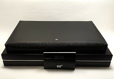 MONTBLANC Black Grained Calf Leather Pen Collectors Box for 8 Pens, NEW IN BOX!