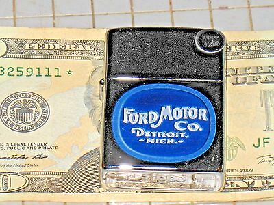 New Windproof USA Zippo Lighter 76167 Ford Motor Co. Detroit Mich Blue 4x4 Truck