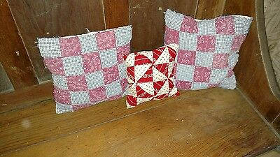 Antique quilt pillows for shelf sitting,bowl stuffers