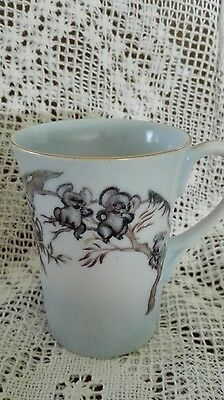 Vintage Brownie Downing Koala Cup with Gold Trim