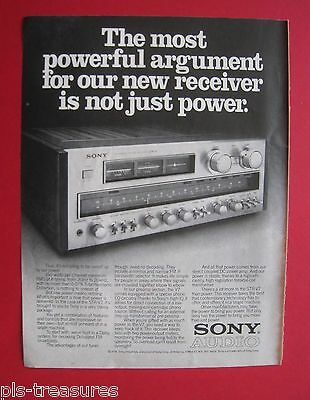 1978 Sony - The most powerful argument for our receiver. AD