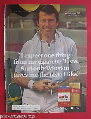 1978 Winston Cigarette - I expect one thing from my cigarette. Taste. Color AD