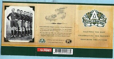 2008 AUSTRALIAN STAMP BOOKLET CENTENARY OF RUGBY LEAGUE 20 x 50c MUH