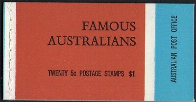 1968 STAMP BOOKLET $1 FAMOUS AUSTRALIANS V68/3 (DIRECTORIES/BANK) 20 x 5c MUH