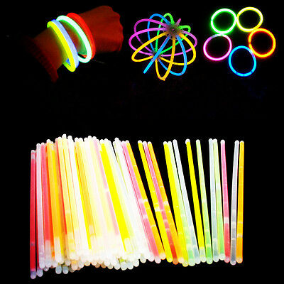 Glow Sticks Bracelets Necklaces Fluorescent Neon Party Wedding Magic Hot