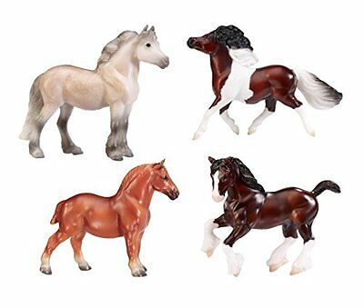 Breyer Stablemates British Pony & Draught Stick Horse 4 Piece Set (1:32 Scale) 9