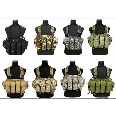 Field Operator Modern Tactical AK 47 Chest Rig Combat Vest Hunting Training