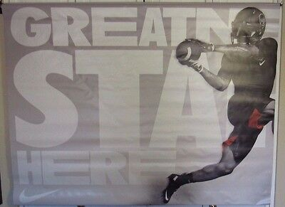 O'dell Beckham Jr. Ny Giants Nike Greatness Starts Here Used 2 Part 47X36 Displa