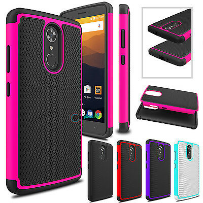 Hybrid Shockproof Rugged Rubber Hard Armor Phone Case Cover for ZTE Max XL/N9560