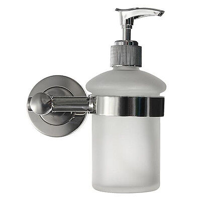 Wall Mount Bathroom Frosted Glass Shampoo Liquid Soap Dispenser FK