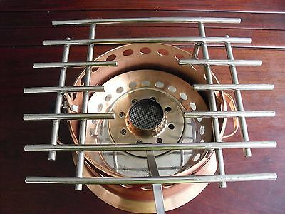 Cooper Heather Rechaud Heating base stand alcohol burner Swiss stainless steel