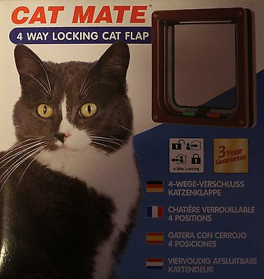 Chatière CHAT MATE 309b brun 4-voies Porte de chat
