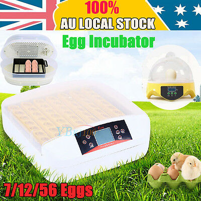 7/12/56 Eggs Incubator Fully Automatic Digital Turning Chicken Duck Eggs Poultry