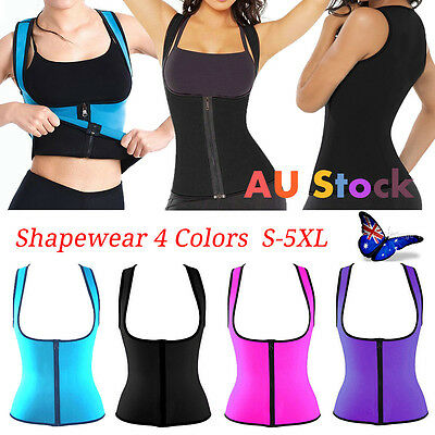 Women Zip Push Up Vest Waist Trainer Shapewear Girdle Body Shaper Corset Cincher