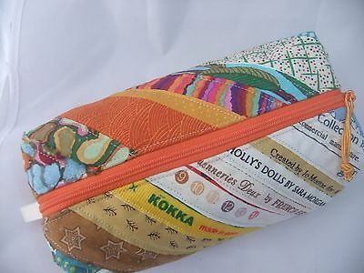 Zip Pouch/bag For Sewing, Make-Up, Crafts - Selvage Strips Hand Made