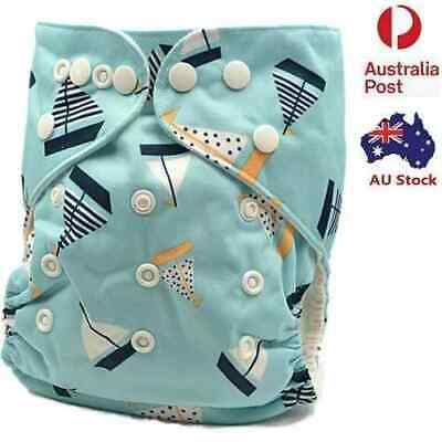 Baby Boy Breathable Longlasting Modern Cloth Nappies Nappy Baby Pants (D165)