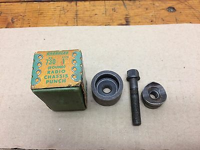 "Greenlee 1"" Round conduit Tube Radio Chassis Diameter Knockout Punch 730 Tool"
