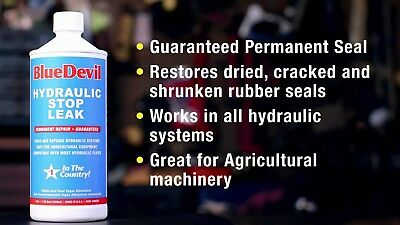 Blue Devil Hydrolic Hydraulic Stop Repair Ghost Fluid Leak Plug 128Oz