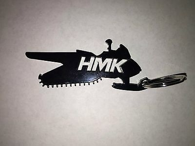 New HMK Snowmobile Keychain BLACK Arctic Cat Polaris Ski Doo Snowmobiling