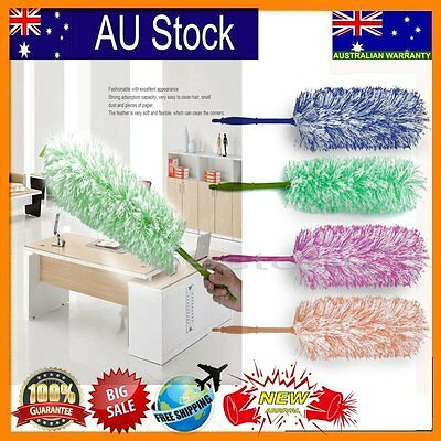 Telescopic High Reach House Cleaning Flexible Extension Static Feather Duster BU
