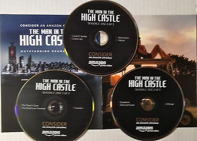 The Man In The High Castle AMAZON Complete Season 2, FYC EMMY Promo 3 DVDs 2017