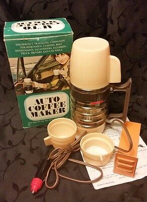 Westinghouse Auto Coffee Maker Travel Vintage 1970 Woodwards New In Box