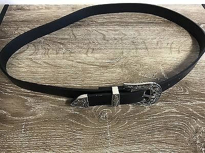 Western Buckle Belt Boho Gypsy Black One Size