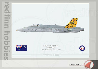 Warhead Illustrated F/A-18A Hornet RAAF 2 OCU 75th Anniversary Aircraft Print