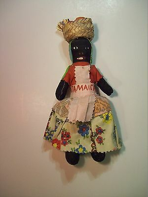 "VINTAGE JAMAICA VOODOO DOLL SMALL 9"" Native Islander CARIBBEAN TRAVEL SOUVENIR"