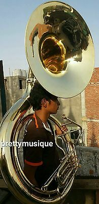 """Sousaphone 25""""bell Of Pure Brass In Gold  + Bag & Mouthpc +Free Shipping"""