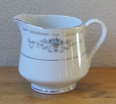 DIANE by Wade/Sone - Fine Porcelain China CREAMER - White Blue Silver - Japan