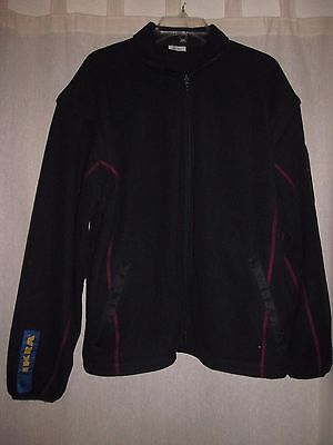 IKEA Coworker Employee Uniform Navy Polyester Jacket Removable Sleeves XL