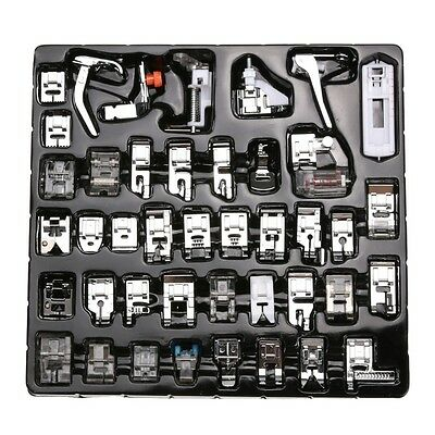42Pcs Multifunction Domestic Sewing Machine Presser Foot Feet Set Brother Janom