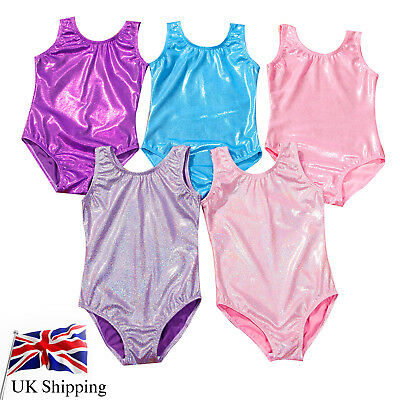 Kids Gymnastics Leotards Ballet Dance Bodysuit Costume For Girls Dancewear 5-10Y
