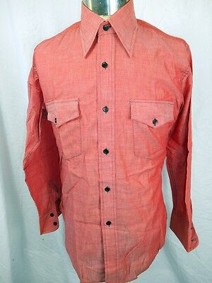 Vintage 1960s 70s Watermelon Colour Londonaire Dress Shirt - Never Worn! 16 M