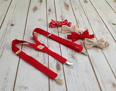 Children's Red braces and 1 bow tie. Handmade (Baby, Toddler And Boys)