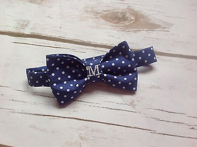 Children's Monogram/personalised bow tie. Handmade (Baby, Toddler And boys)