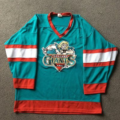 Rare Early Belfast Giants Home Jersey Ice Hockey Jersey Xl Excellent Condition