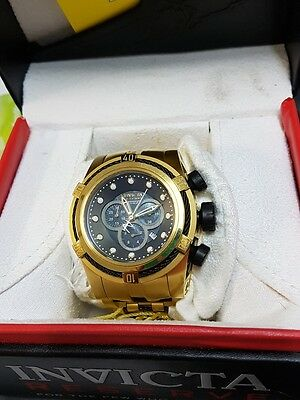 Invicta Bolt Men Swiss Quartz Chronograph Gold 53mm Stainless Steel Watch