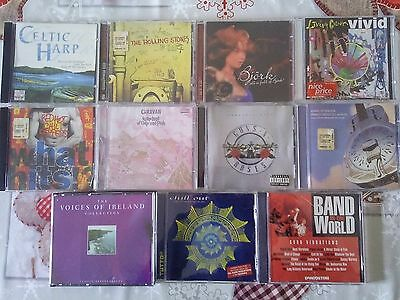 Lotto Stock 11cd - Red Hot, Guns 'N' Roses, Bjork, Rolling Stones, Dire Straits