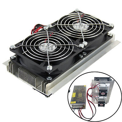 Thermoelectric Peltier Refrigeration Semiconductor Cooler 2 Fan Cool System Kit
